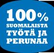 100% suomalaista työtä ja perunaa